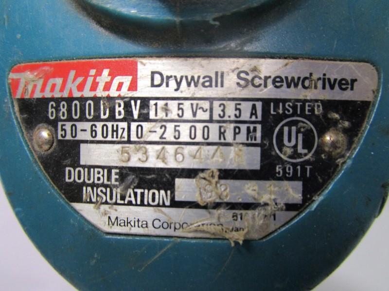 MAKITA PROFESSIONAL DRYWALL SCREWDRIVER, CHORDED, USED