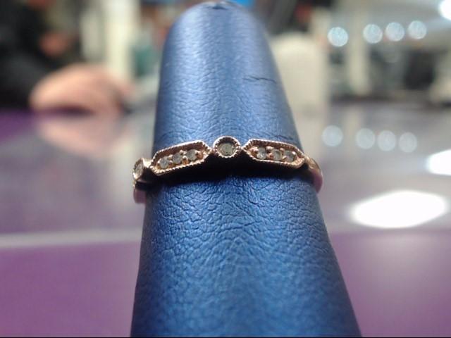 Lady's Diamond Fashion Ring 11 Diamonds .11 Carat T.W. 10K Rose Gold 1.1g