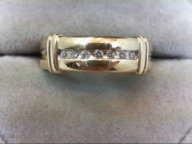Lady's Diamond Wedding Band 7 Diamonds .21 Carat T.W. 14K Yellow Gold 4.2g