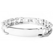 STAINLESS STEEL BIKE CHAIN LINK ID BRACELET