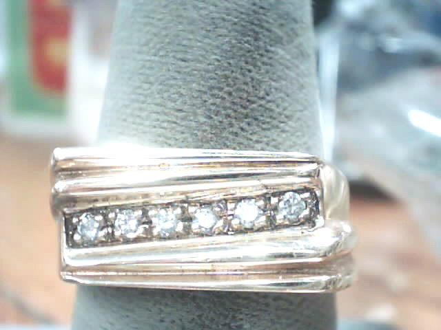 Gent's Diamond Fashion Ring 6 Diamonds .12 Carat T.W. 14K Yellow Gold 7.7dwt