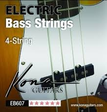 KONA ELECTRIC BASS 4-STRING STRINGS  EB607 BASS GUITAR STRINGS (4-STRING SET)