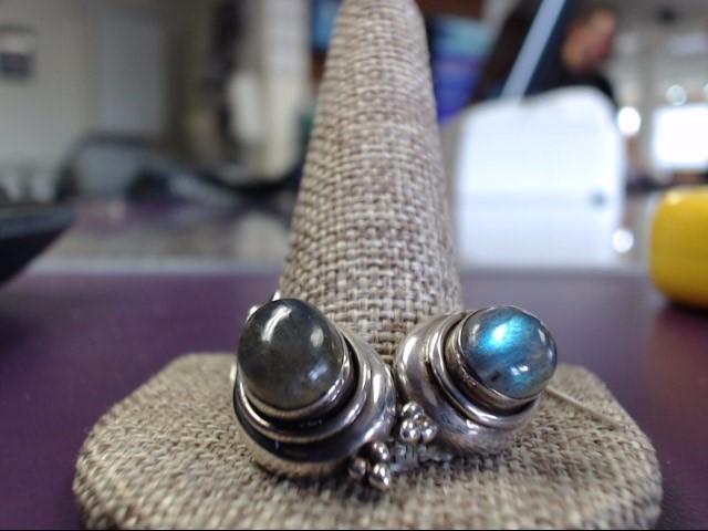 Moonstone Silver-Stone Earrings 925 Silver 6.5g