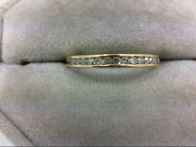 Lady's Diamond Wedding Band 15 Diamonds 0.15 Carat T.W. 10K Yellow Gold 1.2g