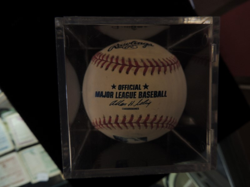 Carlton Fisk and Ron Santo Signed/Autographed Rawlings Official MLB Baseball