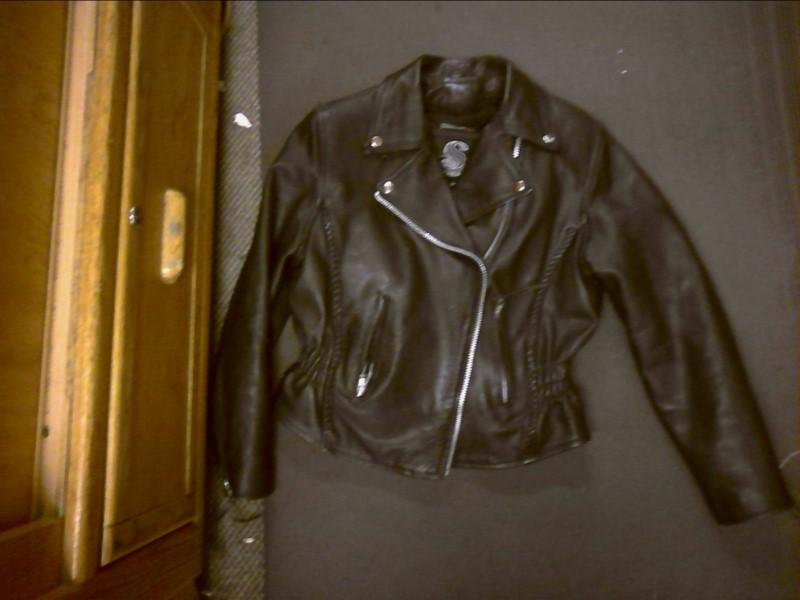 Clothing BLACK LEATHER JACKET