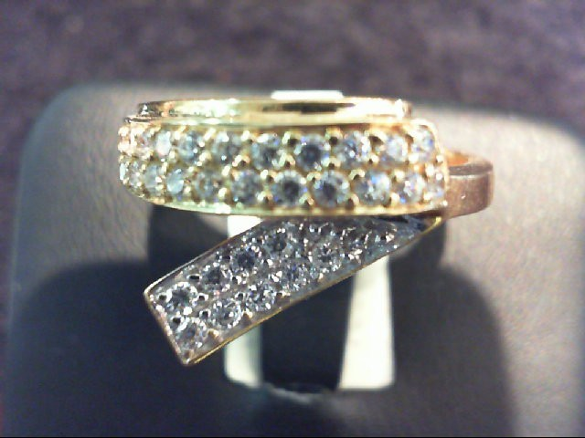 Lady's Diamond Fashion Ring 33 Diamonds .33 Carat T.W. 18K Yellow Gold 4.9g