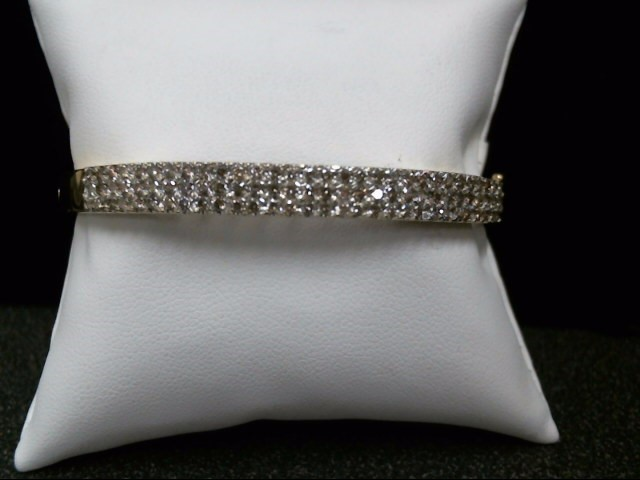 Gold-Diamond Bracelet 90 Diamonds 1.80 Carat T.W. 14K Yellow Gold 17g