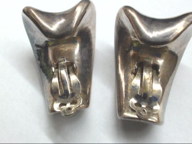 Silver Clip Earrings 925 Silver 26.1g