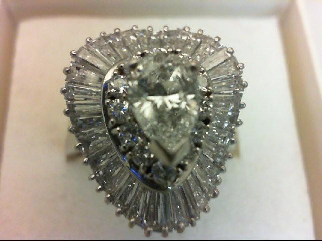 Lady's Platinum Diamond Cluster 49 Diamonds 2.84 Carat T.W. 999 Platinum 13.2g