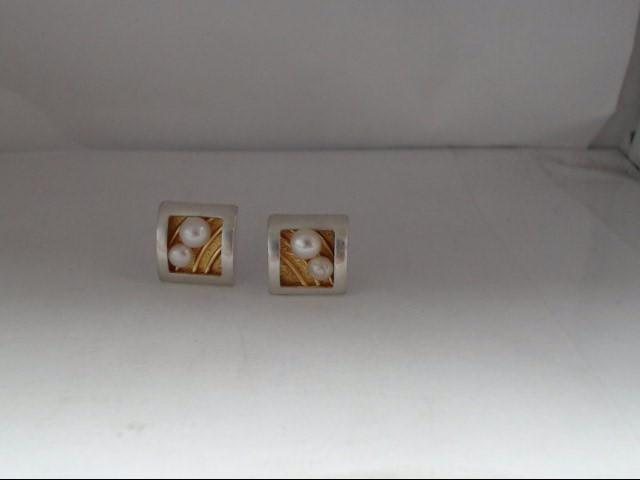 Pearl Silver-Stone Earrings 925 Silver 4.38g