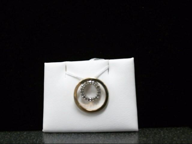 Gold-Multi-Diamond Pendant 20 Diamonds .20 Carat T.W. 10K Yellow Gold 1.6g