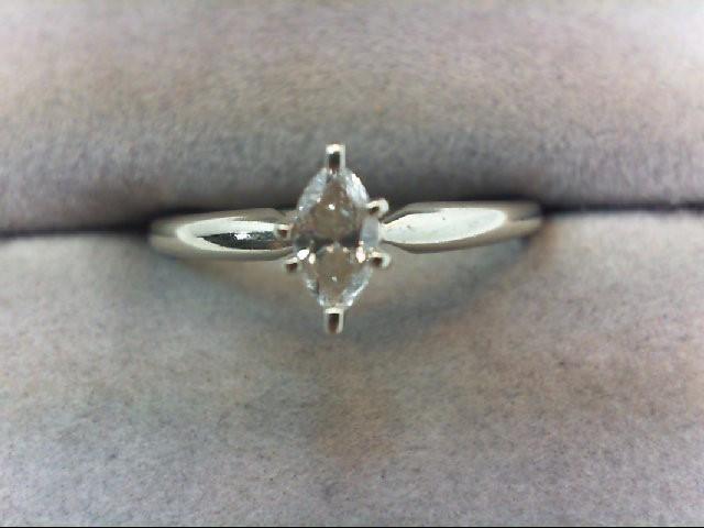 Lady's Diamond Engagement Ring .22 CT. 10K White Gold 1.7g
