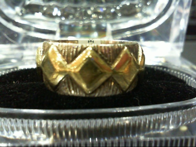 Lady's Gold Wedding Band 14K 2 Tone Gold 8g Size:7.5