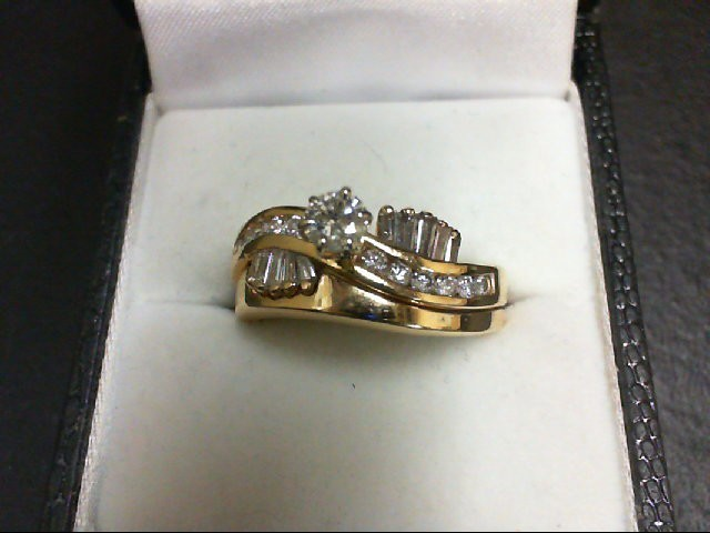 Lady's Diamond Wedding Set 23 Diamonds 0.81 Carat T.W. 14K Yellow Gold 7.1g