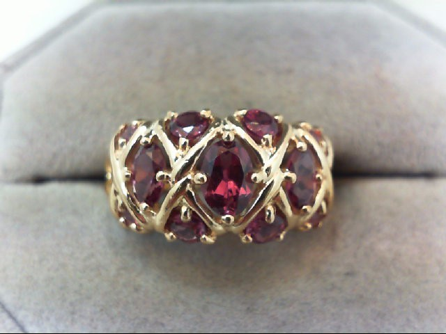 Lady's Gold Ring 14K White Gold 4.9g