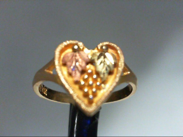 Lady's Gold Ring 10K Tri-color Gold 3.9g Size:6.5
