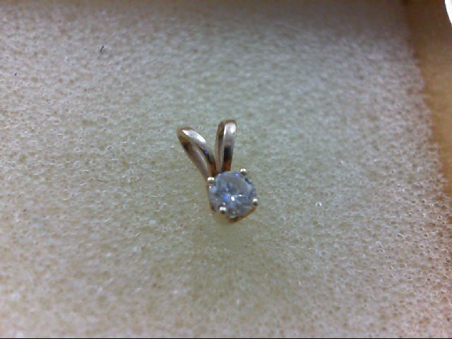 Gold-Diamond Solitaire Pendant 0.1 CT. 10K Yellow Gold 1g