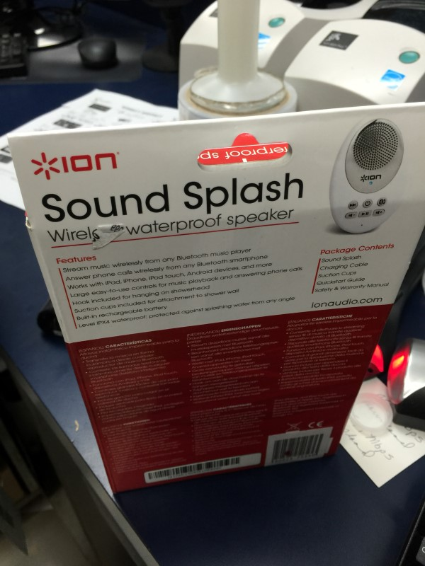 ION Speakers SOUND SPLASH WIRELESS WATERPROOF SPEAKER