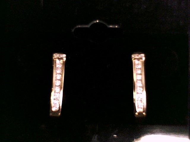 10K GOLD EARRINGS WITH DIAMONDS