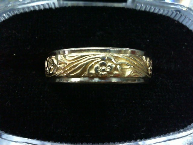 Gent's Gold Wedding Band 14K 2 Tone Gold 7.2g Size:9.5