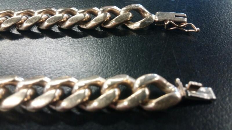 GENTS 10KT Gold Figaro Bracelet FIGARO LINK 14K Yellow Gold 21.6dwt