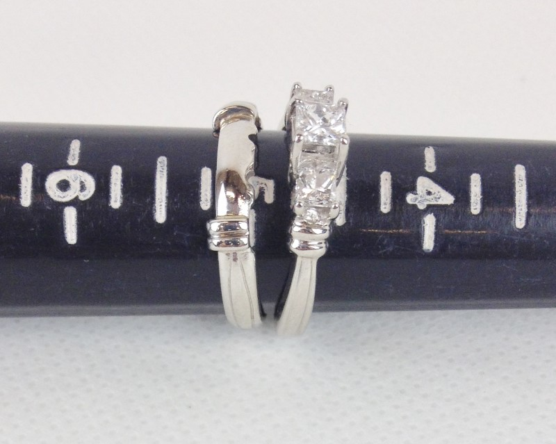 Diamond .60 Carat T.W. 950 Platinum Wedding Set