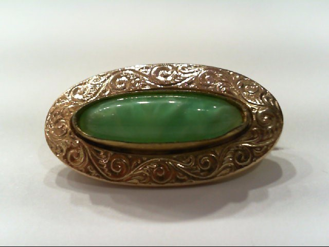 Gold Brooch 10K Yellow Gold 2.6g