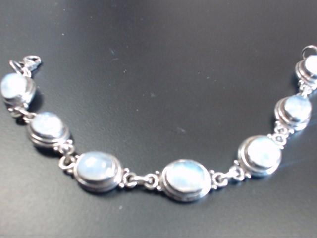 Moonstone Silver-Stone Bracelet 925 Silver 24.06g
