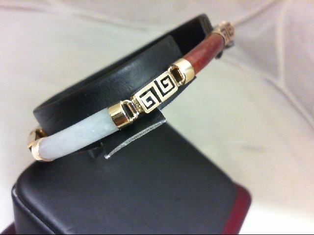 Jade Gold-Stone Bracelet 14K Yellow Gold 11.5g