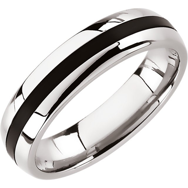 Gent's Wedding Band Silver Stainless 5.7g