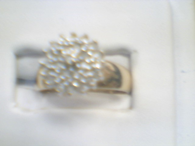 Lady's Diamond Cluster Ring 25 Diamonds .50 Carat T.W. 14K Yellow Gold 2.1g