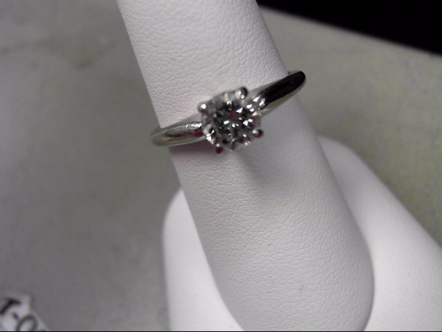Lady's Diamond Engagement Ring .74 CT. 14K White Gold 2.88g Size:7.5