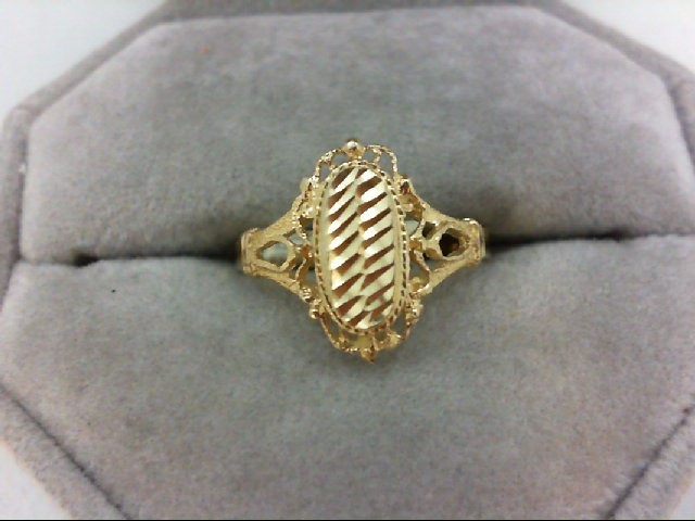 Lady's Gold Ring 14K Yellow Gold 2.1g Size:7