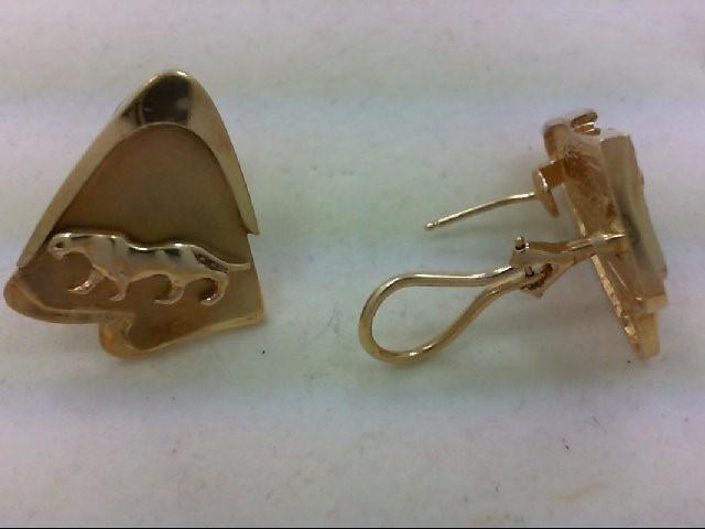 Gold Earrings 18K Yellow Gold 14.8g