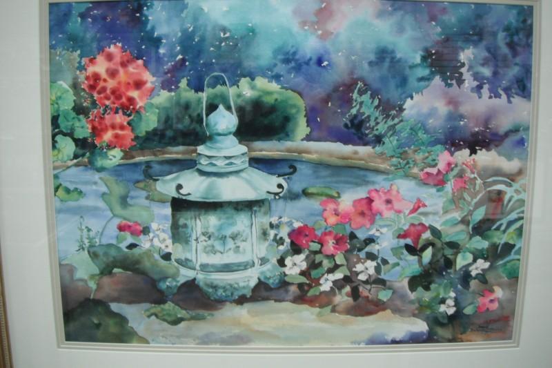BRENDA BICKERSTAFF STANLEY FLOWER WATERCOLOR 30X21