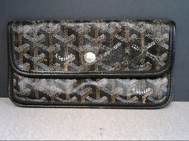 GOYARD TRIFOLD BLACK & GOLD MONOGRAM WALLET