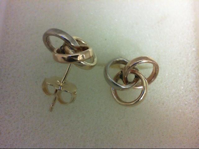 Gold Earrings 14K Tri-color Gold 1.1g