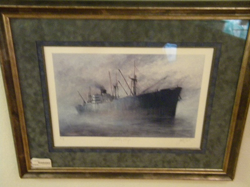 JOHN KELLY ARTIST, LIBERTY SHIP,  ARTIST PROOF.