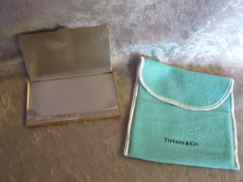 TIFFANY & CO Flatware CARD HOLDER *WITH MONOGRAM*