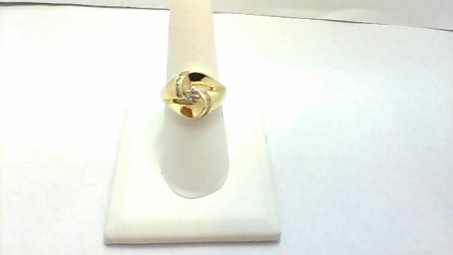 Lady's Diamond Wedding Band 5 Diamonds .19 Carat T.W. 14K Yellow Gold 6.8g