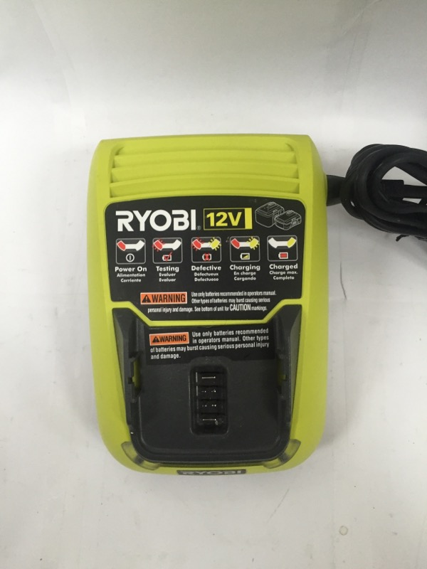 RYOBI C120D 12-VOLT LITHIUM-ION CHARGER (CHARGER ONLY)