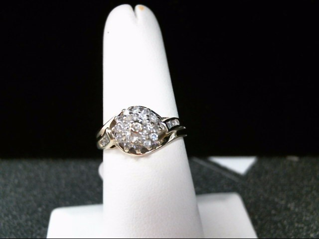 Lady's Diamond Cluster Ring 27 Diamonds .54 Carat T.W. 10K Yellow Gold 3.5g