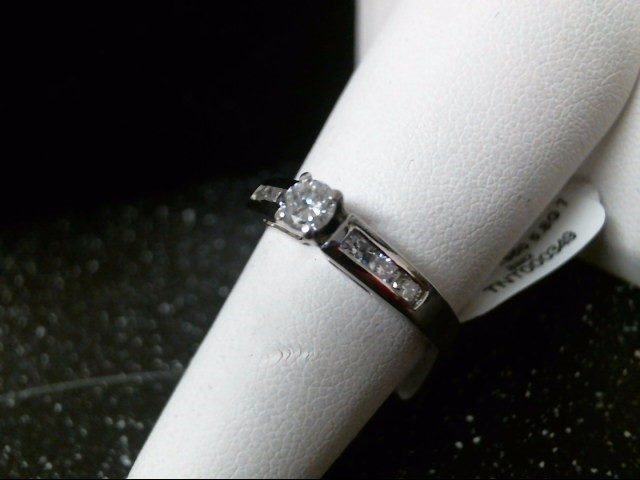Lady's Platinum-Diamond Anniversary Ring 7 Diamonds .51 Carat T.W. 950 Platinum