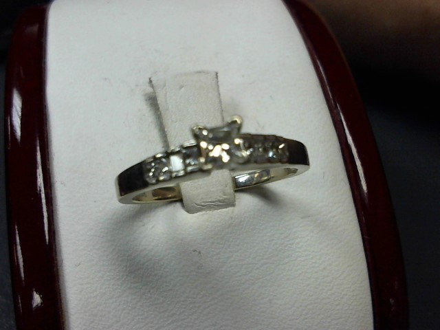 Lady's Diamond Engagement Ring 9 Diamonds .37 Carat T.W. 14K White Gold 2.6g