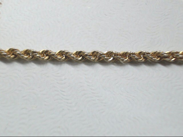 """24"""" Gold Rope Chain 14K Yellow Gold 7.3g"""