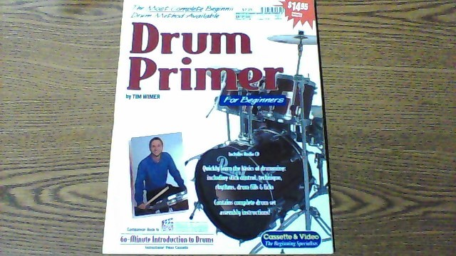 WATCH & LEARN Non-Fiction Book DRUM PRIMER BOOK
