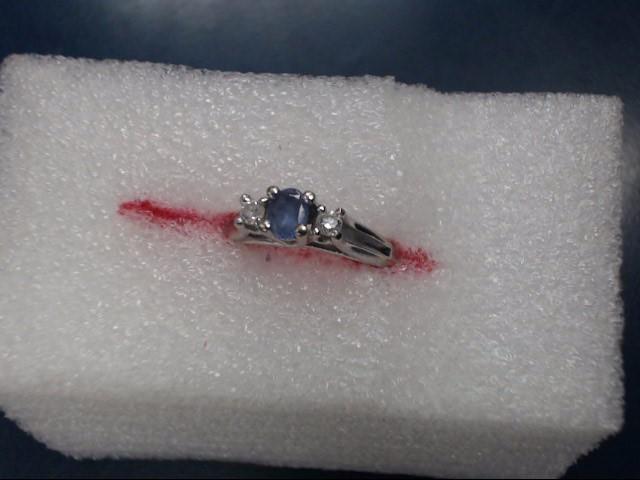 Blue Stone Lady's Stone Ring 10K White Gold 1.93dwt