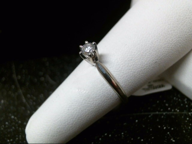 Lady's Diamond Solitaire Ring .15 CT. 14K White Gold 2.2g Size:7