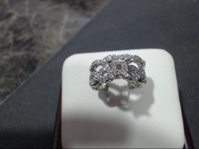 Lady's Gold Ring 14K White Gold 6g